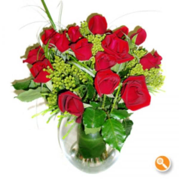 Jarra de rosas vermelhas - Fonte de Luz